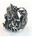 Anillo dragon en plata de ley 925